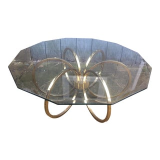 Modern Brass Ring Coffee Table