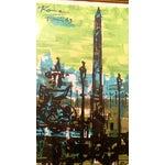 Image of Abstract 1963 Paris Street Scene Serigraph