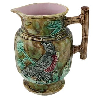 Antique English Majolica Gallon Size Jug