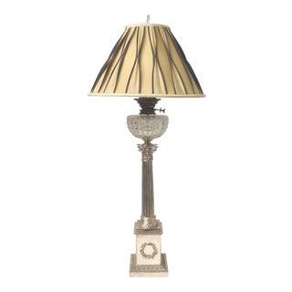 Corinthian Column Oil Lamp