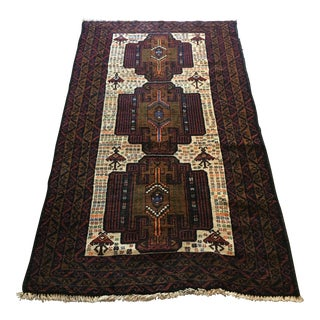 Vintage Handwoven Turkish Rug - 4' X 6'