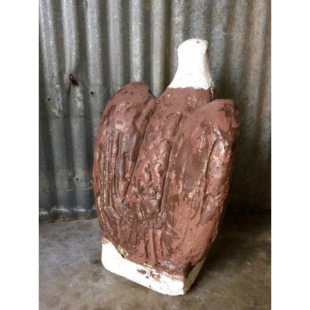Vintage Concrete Eagle Statue - Image 5 of 8