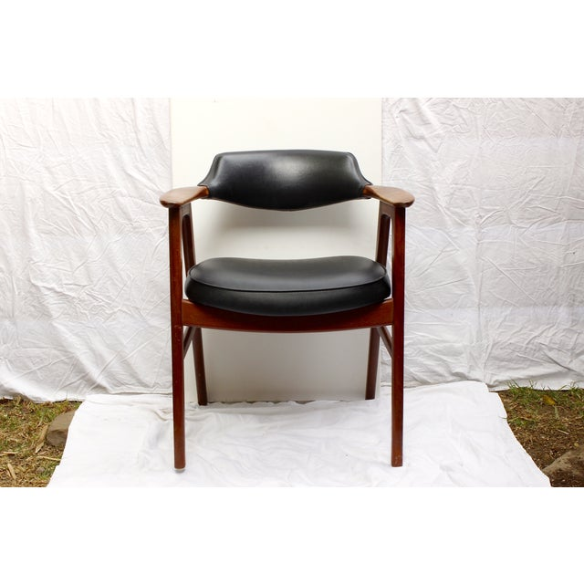 Erik Kirkegaard Mid-Century Danish Desk Chair - Image 2 of 7