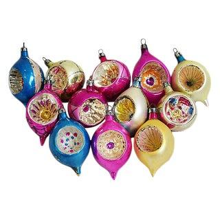 Fancy European Christmas Ornaments w/Box - Set of 12