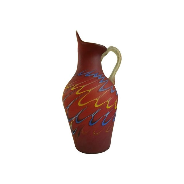 Azerbaijan Blown Glass Pitcher - Image 1 of 7