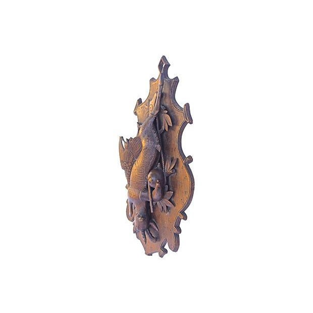 Image of Antique Hand-Carved Hunting Wall Plaque