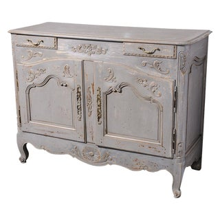 Antique French Early 19th Century Painted Buffet
