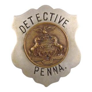 Antique Pennsylvania Detective Badge