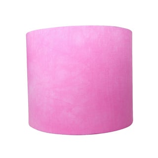 Linen Hand Dyed Pink Designer Lamp Shade