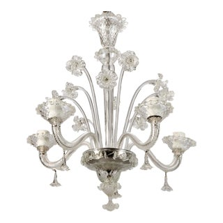Venetian 4Light Clear Glass Daffodil Chandelier