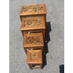 Image of Vintage Chinese Nesting Tables - Set of 4
