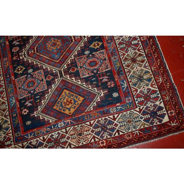 Antique Caucasian Shirvan Rug- 4′9″ × 7′10″ - Image 2 of 10