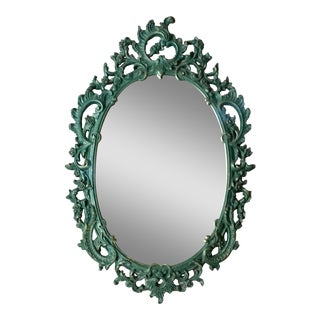 Vintage Baroque Green & Gold Mirror
