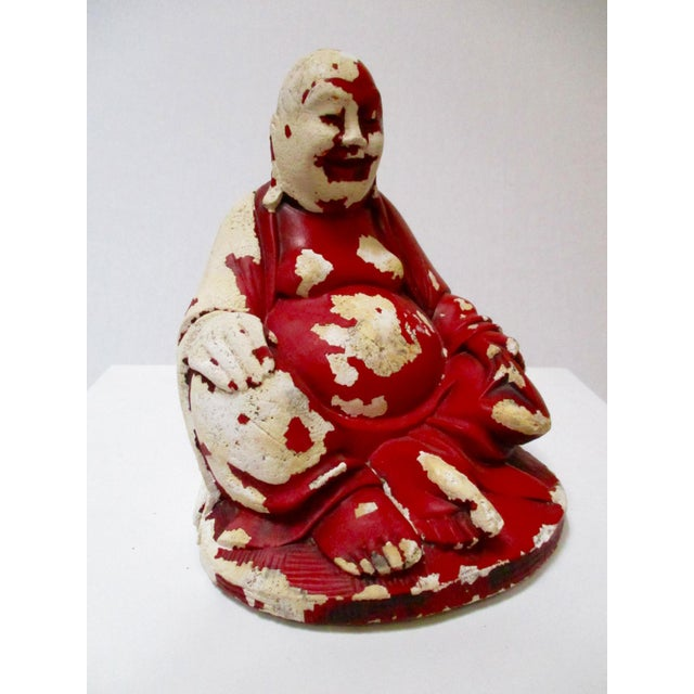 Image of Vintage Red Happy Buddha