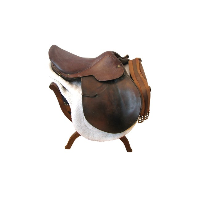 "Crosby Millers 16.5"" Brown Leather Horse Saddle - Image 1 of 8"