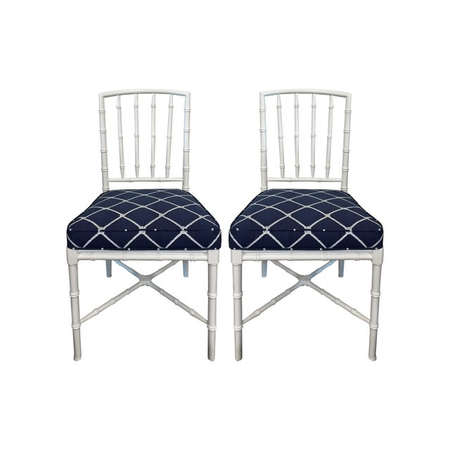 Image of Chinese Chippendale Chairs - a Pair