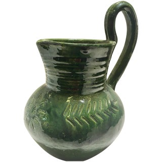 Green Redware Pitcher