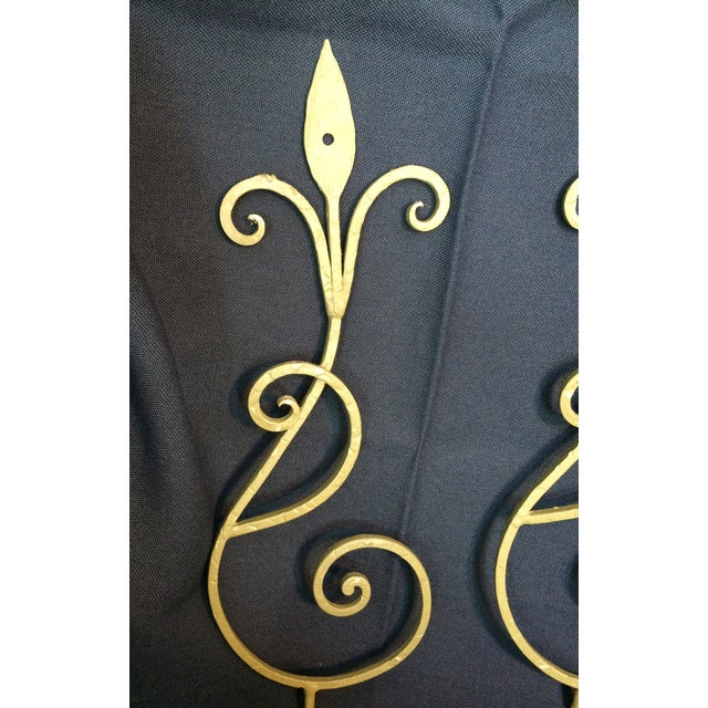 Wrought Iron Wall Candle Sconces - A Pair - Image 5 of 6