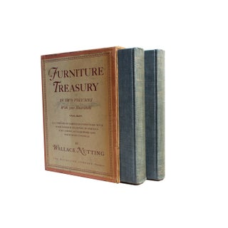 Furniture Treasury Books by Wallace Nutting in Slipcase - Set of 2