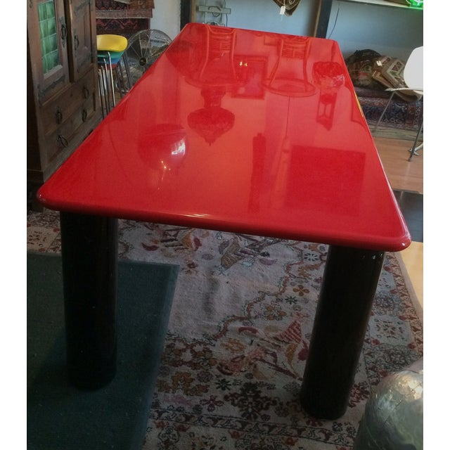 Vintage Italian Red Lacquer Table - Image 2 of 9