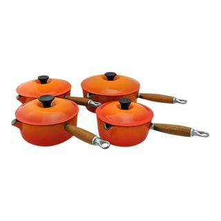 Vintage French Le Creuset Sauce Pans - Set of 4