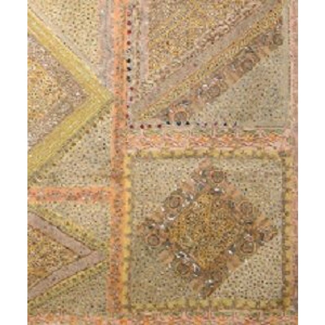 Yellow and Peach Multi-Purpose Hand-Worked Panel - Image 2 of 2