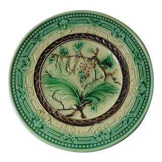 Vintage Majolica Leaves Plate