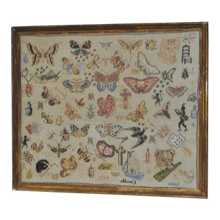 19th Century Whimsical Sampler c.1884