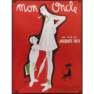 Jacques Tati Mon Oncle French Film Poster