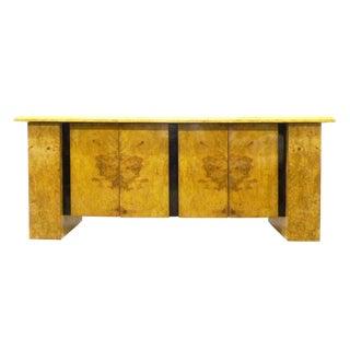 Milo Baughman Burled Wood Bar Cabinet