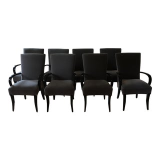 Dakota Jackson Gray Mohair Dining Chairs - Set of 8