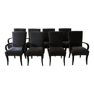 Dakota Jackson Gray Mohair Dining Chairs - Set of 8