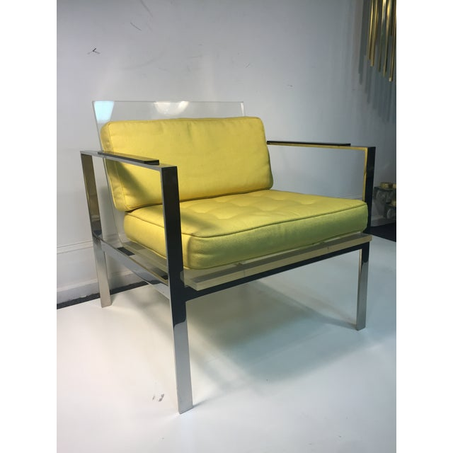 Rare Pair of Modernist Lucite And Nickeled Bronze Chairs by Laverne - Image 10 of 10