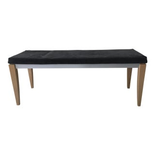 Danish Modern Mobler Gray Upholstered Bench