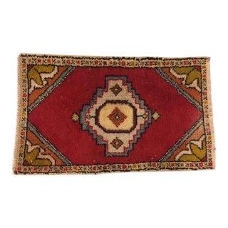 Vintage Decorative Oushak Carpet - 1′9″ × 2′11″