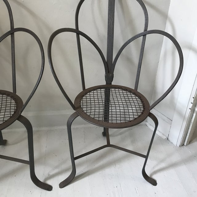 Crate & Barrel Iron Chairs - A Pair - Image 4 of 7
