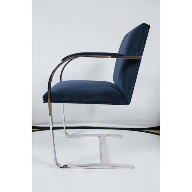 Brno Flat Bar Chairs in Navy Velvet, Set of Six - Image 8 of 9