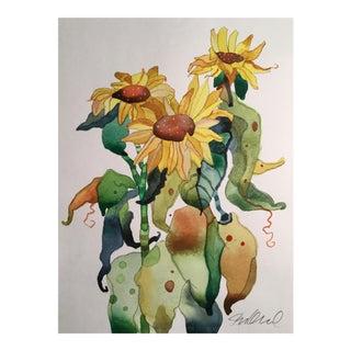 Sunflower Fall Painting