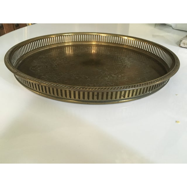 Vintage Round Brass Tray - Image 2 of 3