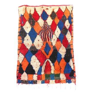 "Vintage Azilal Moroccan Berber Rug - 4'1"" X 5'6"""