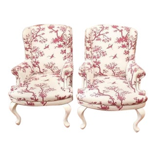 Woodson & Rummerfield Classic Wingback Chairs - Pair