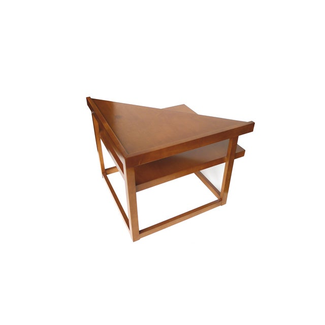 Image of Mid-Century Mahogany Corner Table by Brown-Saltman
