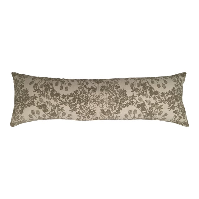 Original Folly Cove Designers Hand Block Printed Clover Pillow - Image 1 of 9