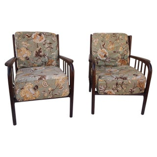 Italian Modern Arm Chairs - Pair