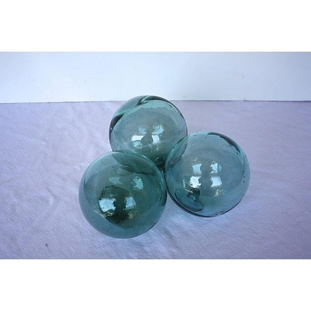 Image of Vintage Handblown Glass Fishing Floats - Set of 3
