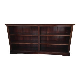 Traditional Long Low Bookcase Shelf