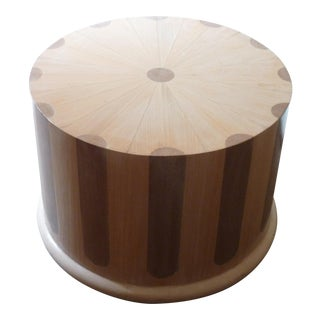 Modern 1970s Beechwood Column Table