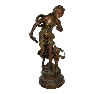 "Art Nouveau ""La Plus Belle Fleche"" French Statue"