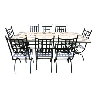 Outdoor Italian Marble Dining Set