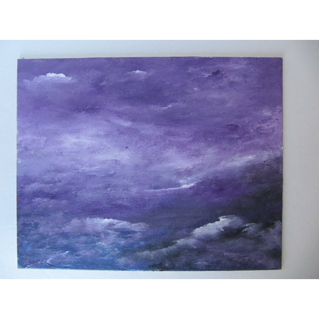 Acrylic Seascape of Mountains & Waves Painting - Image 4 of 4